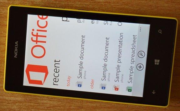 Lumia 520 MS office