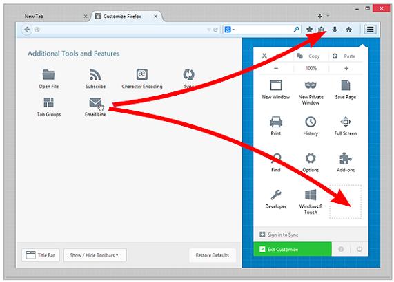 Firefox add-on customise